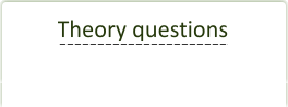 Theory test questions