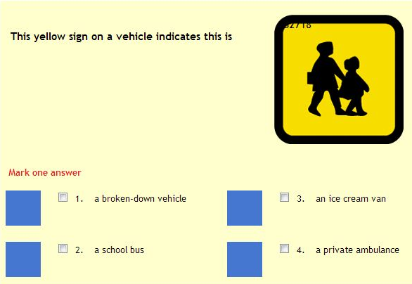 1DRIVER Mock Theory Test Online Practice Mode